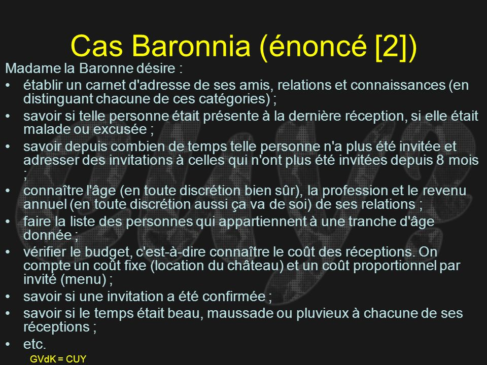 Cas Baronnia (énoncé [2])